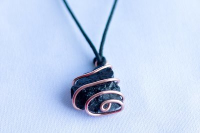 Black Tourmaline Copper Pendant