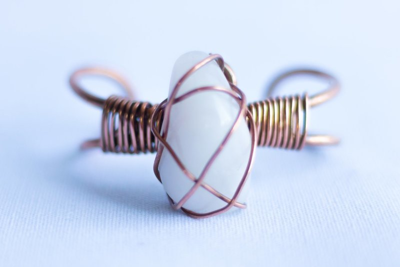 Rose Quartz Copper Bracelet