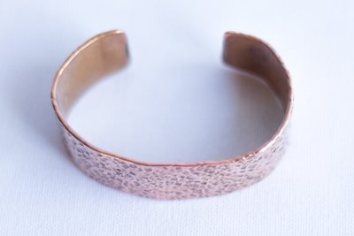 Slim and Medium width Pure Copper Bracelet [Textured]