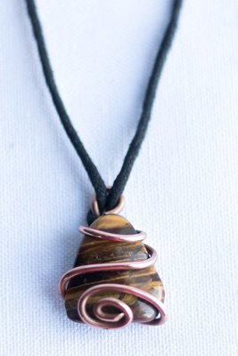 Tiger's Eye Copper Pendant