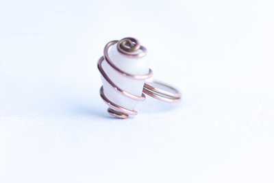 Rose Quartz Copper Ring