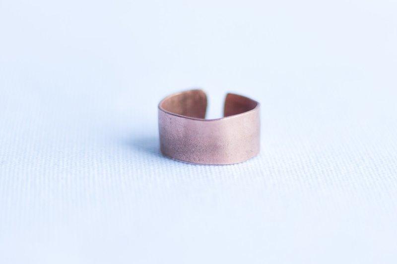 Cuff Copper Ring [Smooth]