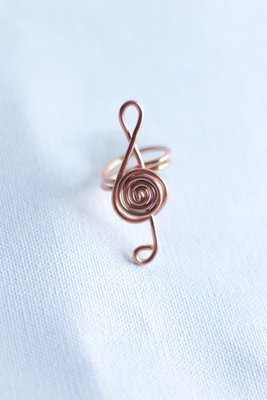 """Music Note"" Copper Ring"