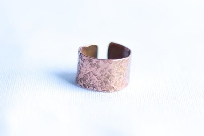 Cuff Copper Ring [Textured]