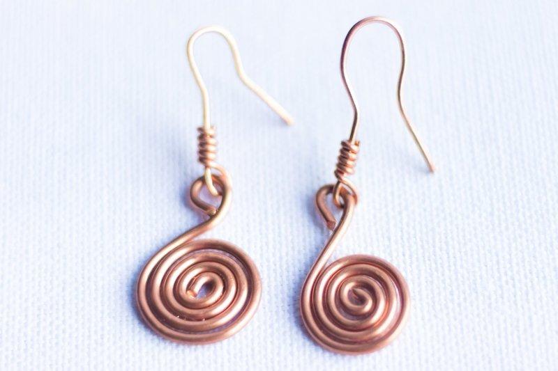 Swirl Copper Earrings
