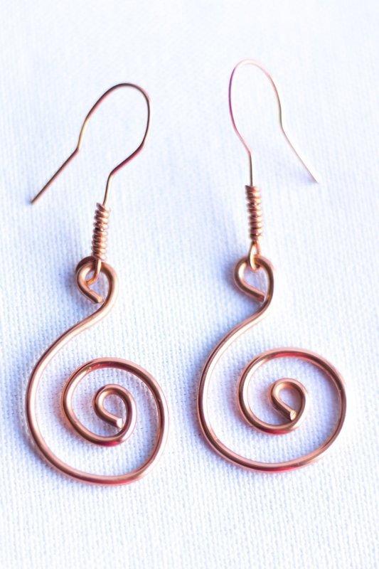 Loopy Copper Earrings
