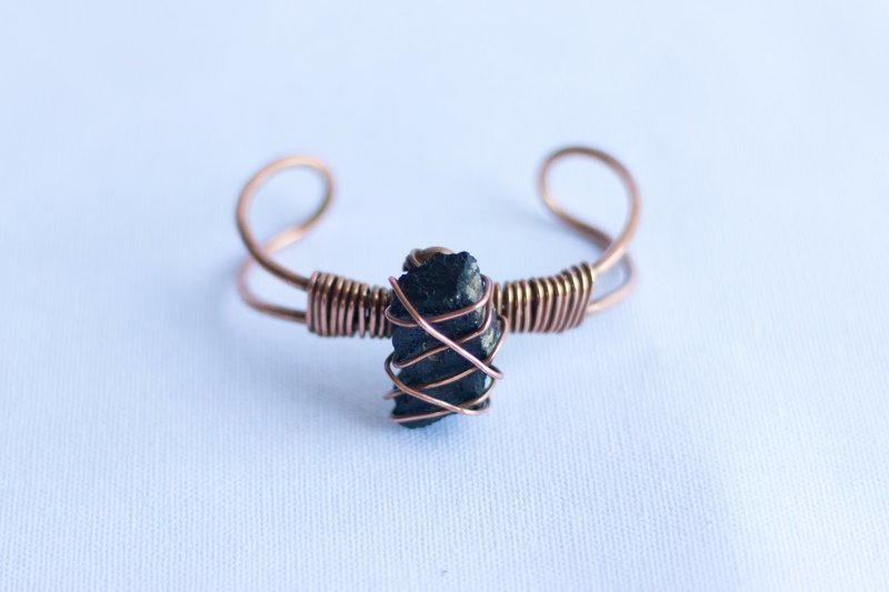 Black Tourmaline Copper Bracelet
