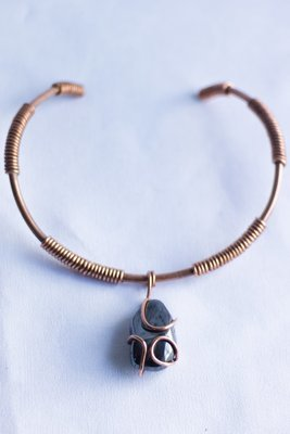 Copper Coil Choker | Choose Your Crystal