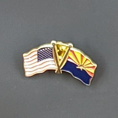 US/AZ Flag Friendship Pin