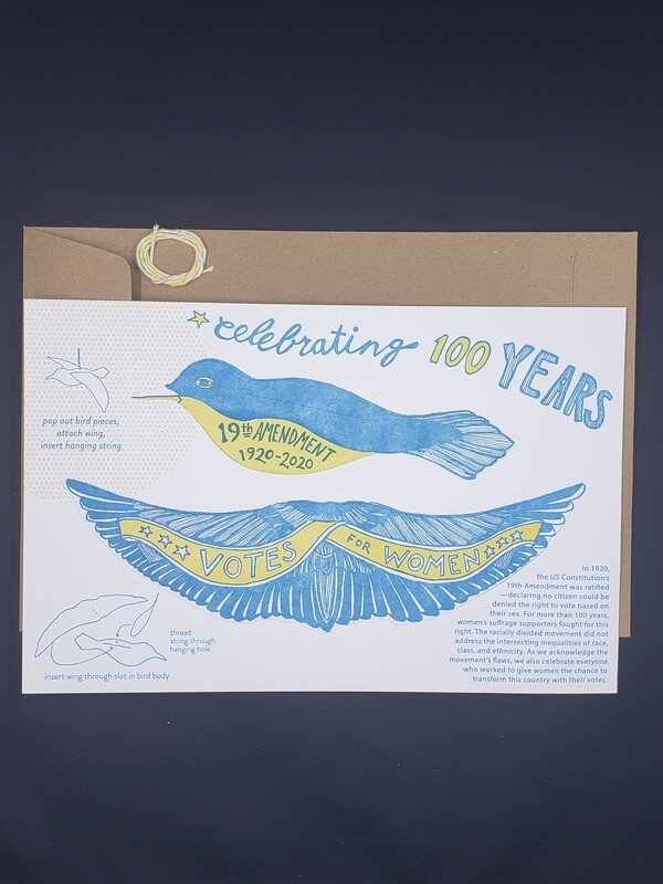 Pop Out Bird Card-votes for women