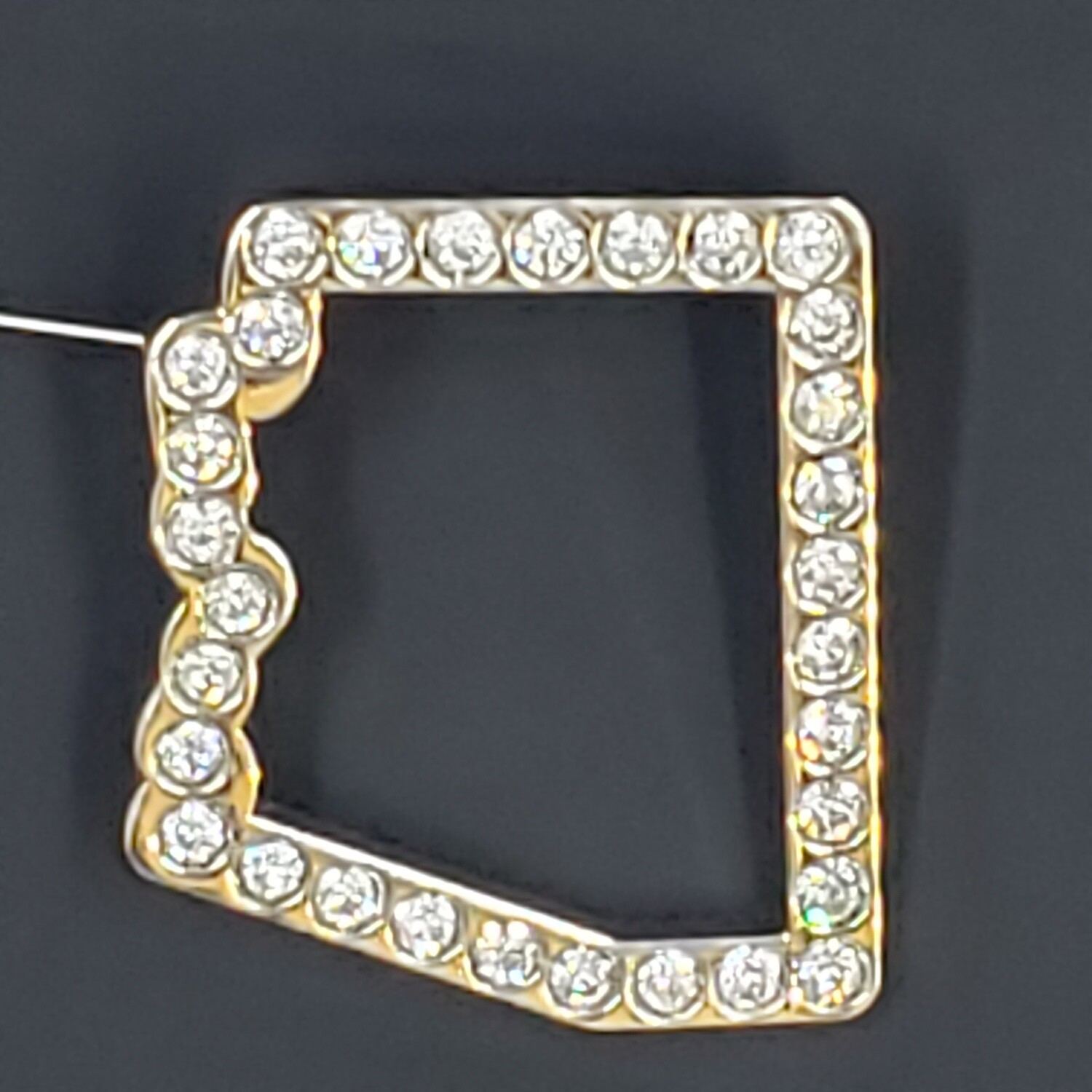 Arizona Rhinestone lapel pin
