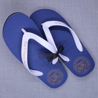 State Seal Flip Flops