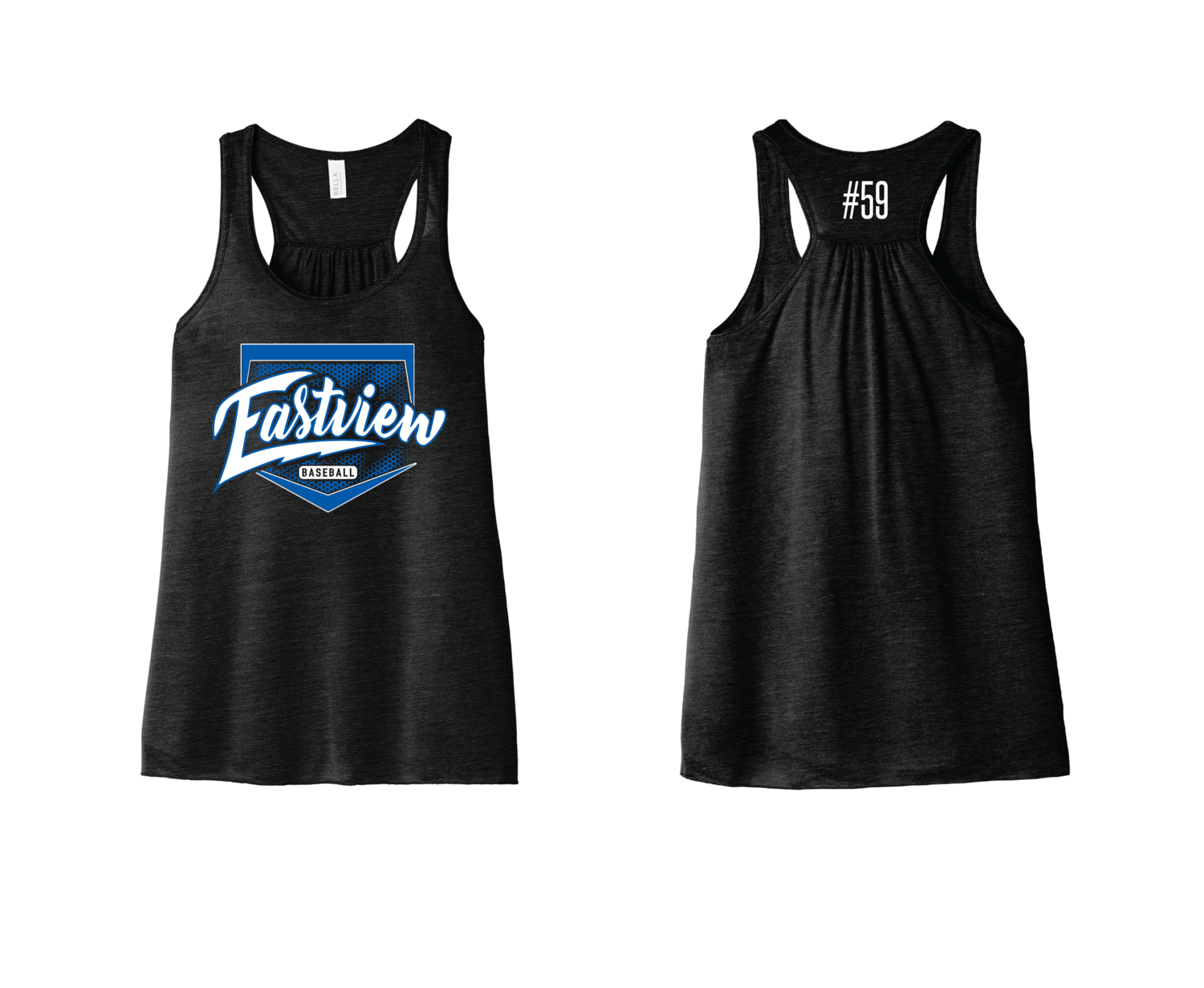 Eastview Baseball Bella+Canvas® Women's Flowy Racerback Tank