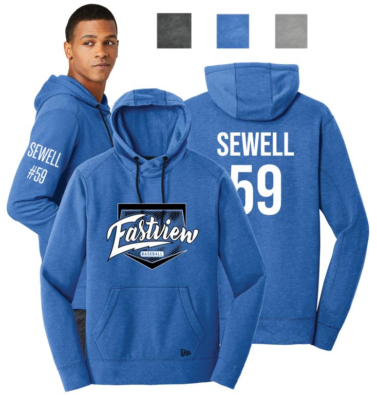 Eastview Baseball Men's New Era® Tri-Blend Pullover Hoodie