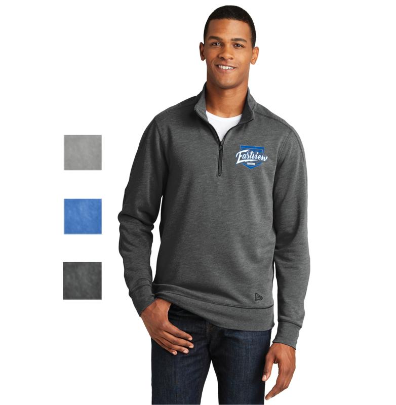 Eastview Baseball New Era® Tri-Blend Fleece 1/4-Zip Pullover