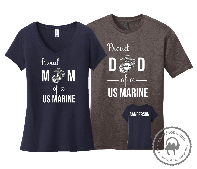 Proud Mom Dad Grandma Grandpa etc of a US Marine Shirt