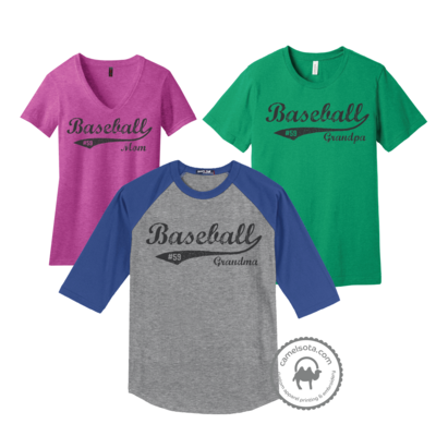 Baseball Design Customizable with Your Number