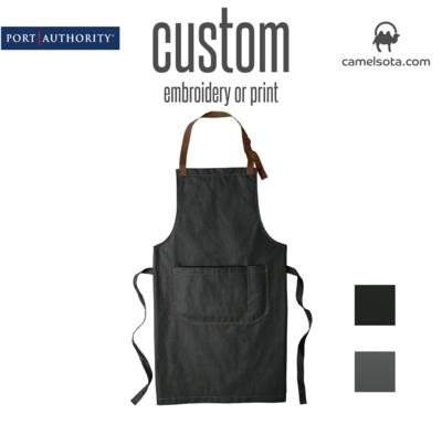 Custom Port Authority Market Full-Length Bib Apron