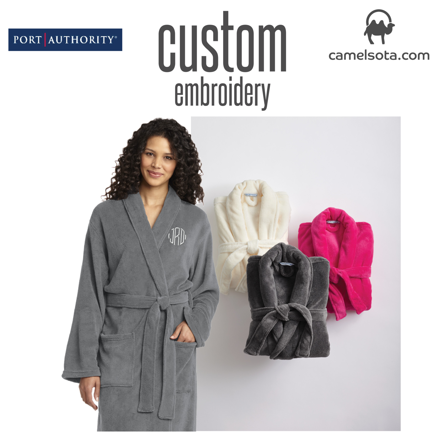 Custom Embroidered Port Authority® Plush Microfleece Shawl Collar Robe