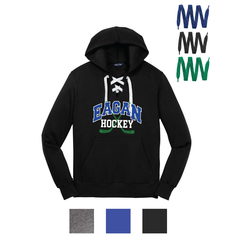Eagan Hockey Lace Up Hoodie