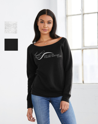 Printed BELLA+CANVAS ® Women's Wide-Neck Sweatshirt - FCFSC