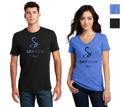 Adult V-Neck and Crewneck Shirts - Skyview Acro Gym