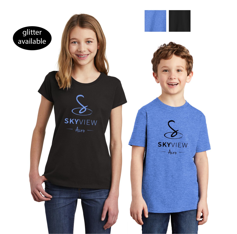 Youth Crewneck Shirts - Skyview Acro Gym