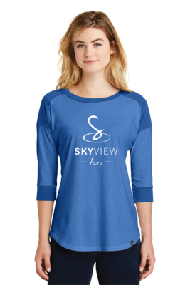 Ladies Blend Raglan - Skyview Acro Gym
