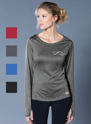 Printed OGIO® ENDURANCE Ladies Long Sleeve Pulse Crew - FCFSC