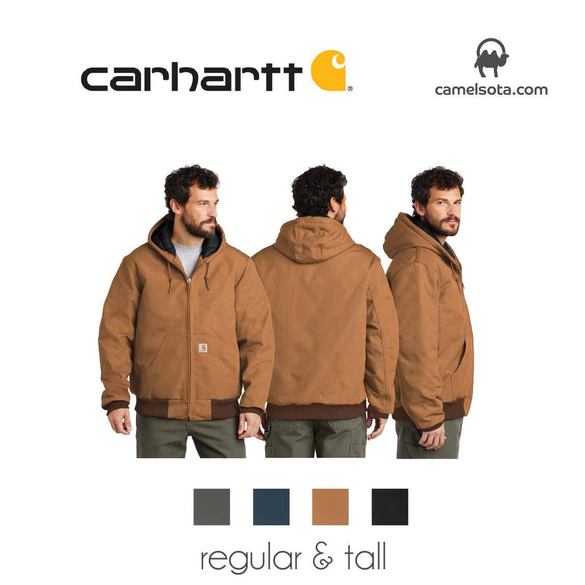 Custom Carhartt Quilted-Flannel-Lined Duck Active Jacket