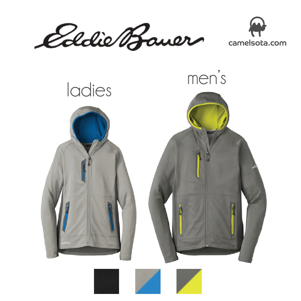 Custom Eddie Bauer Sport Hooded Full-Zip Fleece Jacket