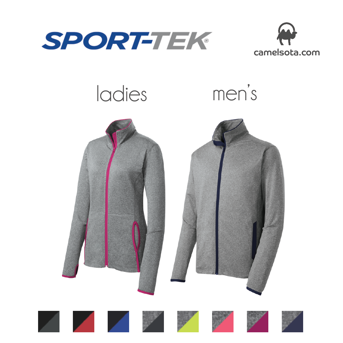 Custom Sport-Tek Sport-Wick Stretch Contrast Full-Zip Jacket