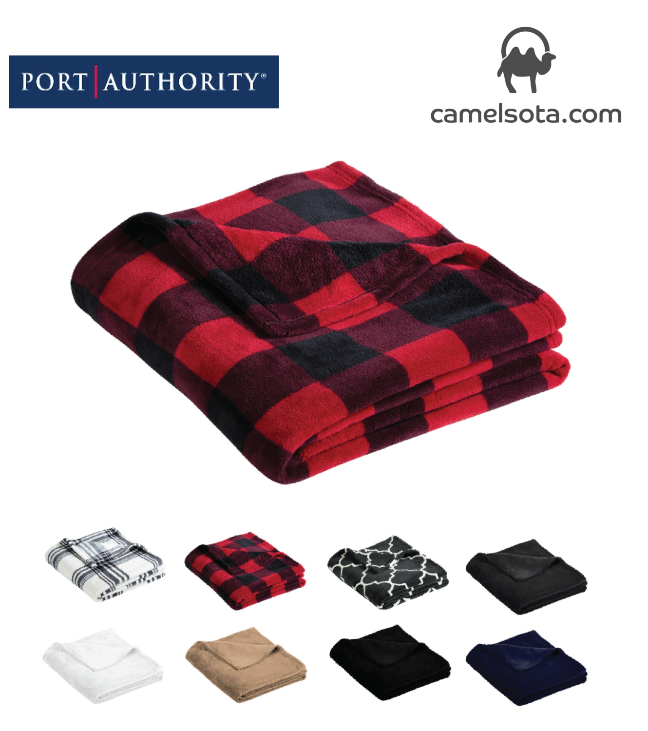 Custom Embroidered Port Authority Ultra Plush Blanket