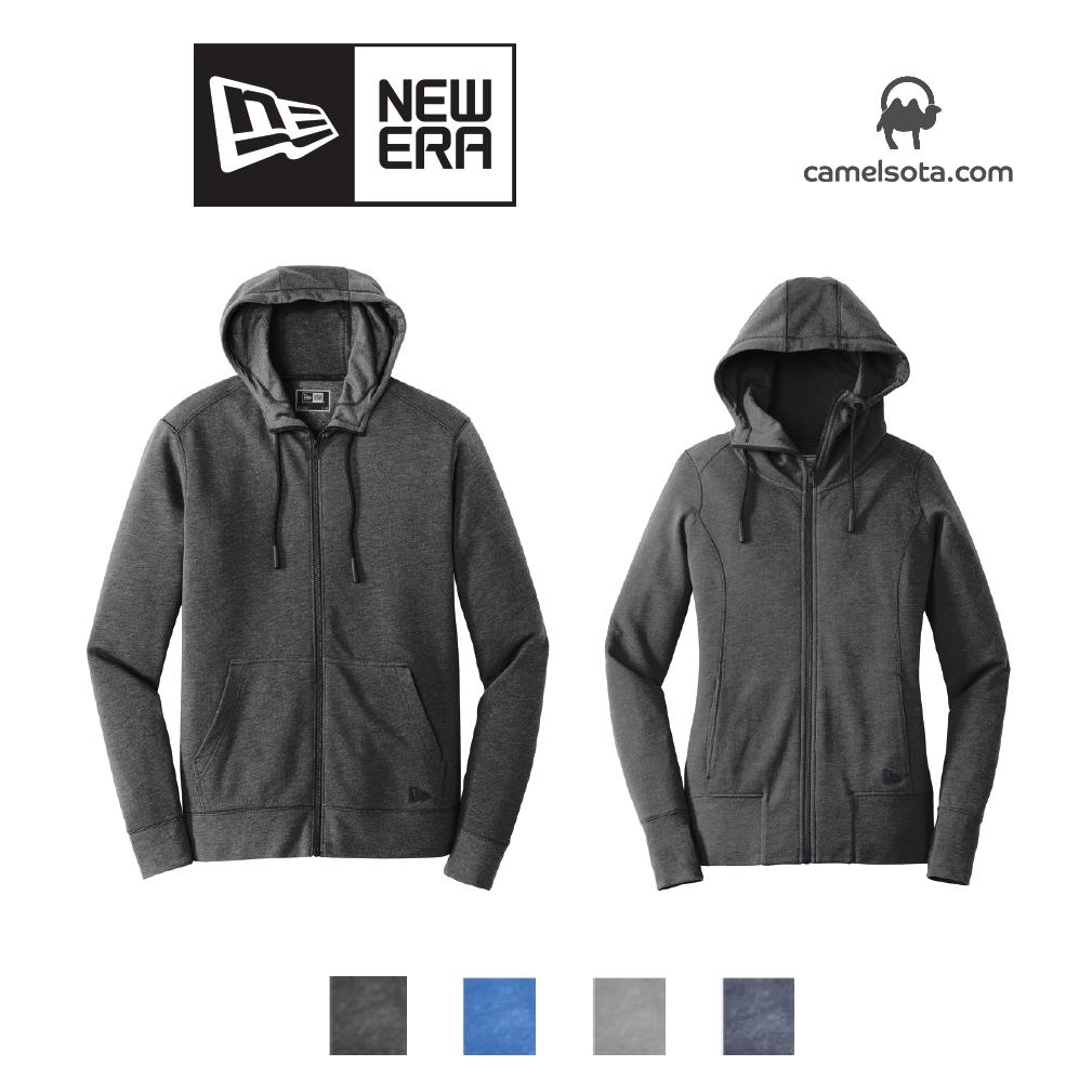 Custom New Era Tri-Blend Full-Zip Hoodie