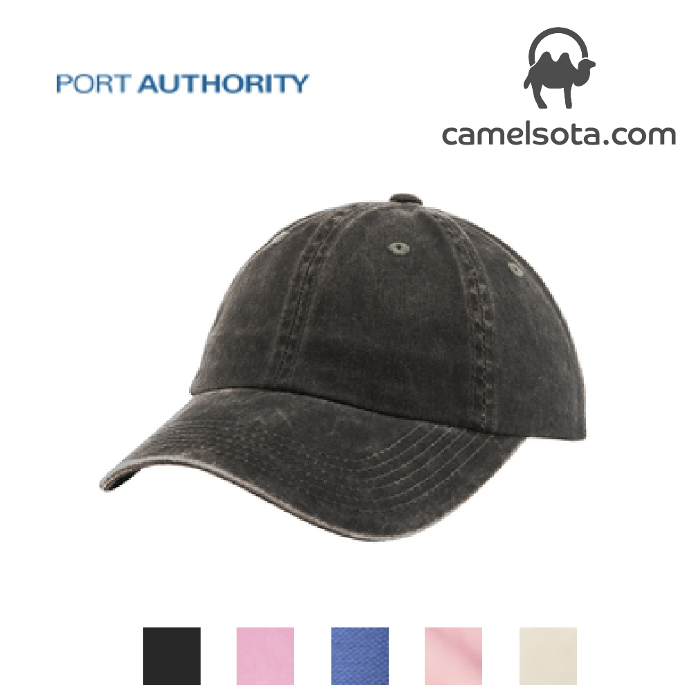 Custom Embroidered Port Authority Ladies Garment Washed Cap
