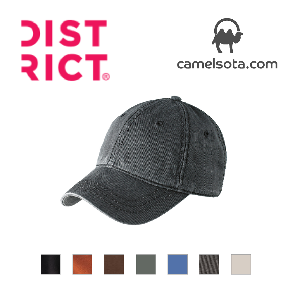 Custom Embroidered District Thick Stitch Cap