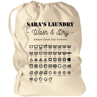 Custom Laundry Bag with Laundry Symbols 33.5