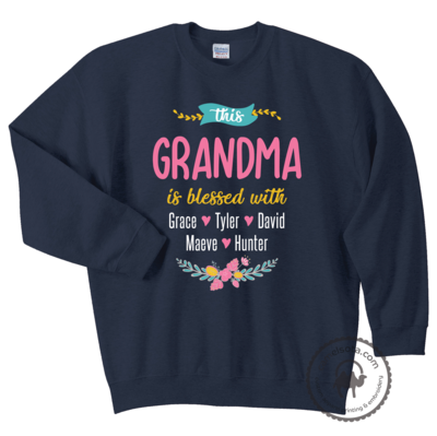 This Grandma is Blessed With Grandkids Hoodie and Sweatshirt