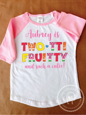 Personalized Tutti Fruity 2nd Birthday Shirt