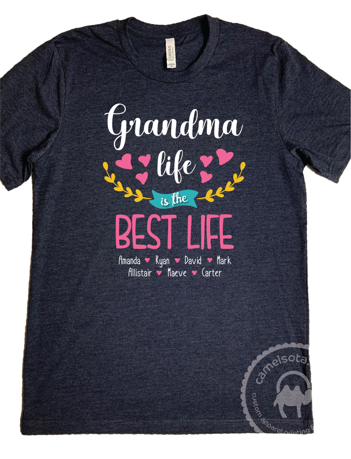 Grandma Life is the Best Life shirt with Grandkids names