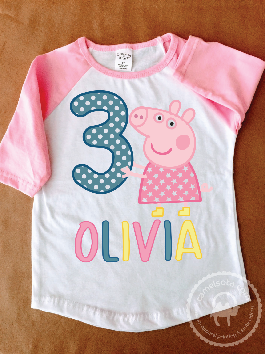 Peppa Pig Girl's Birthday Tee