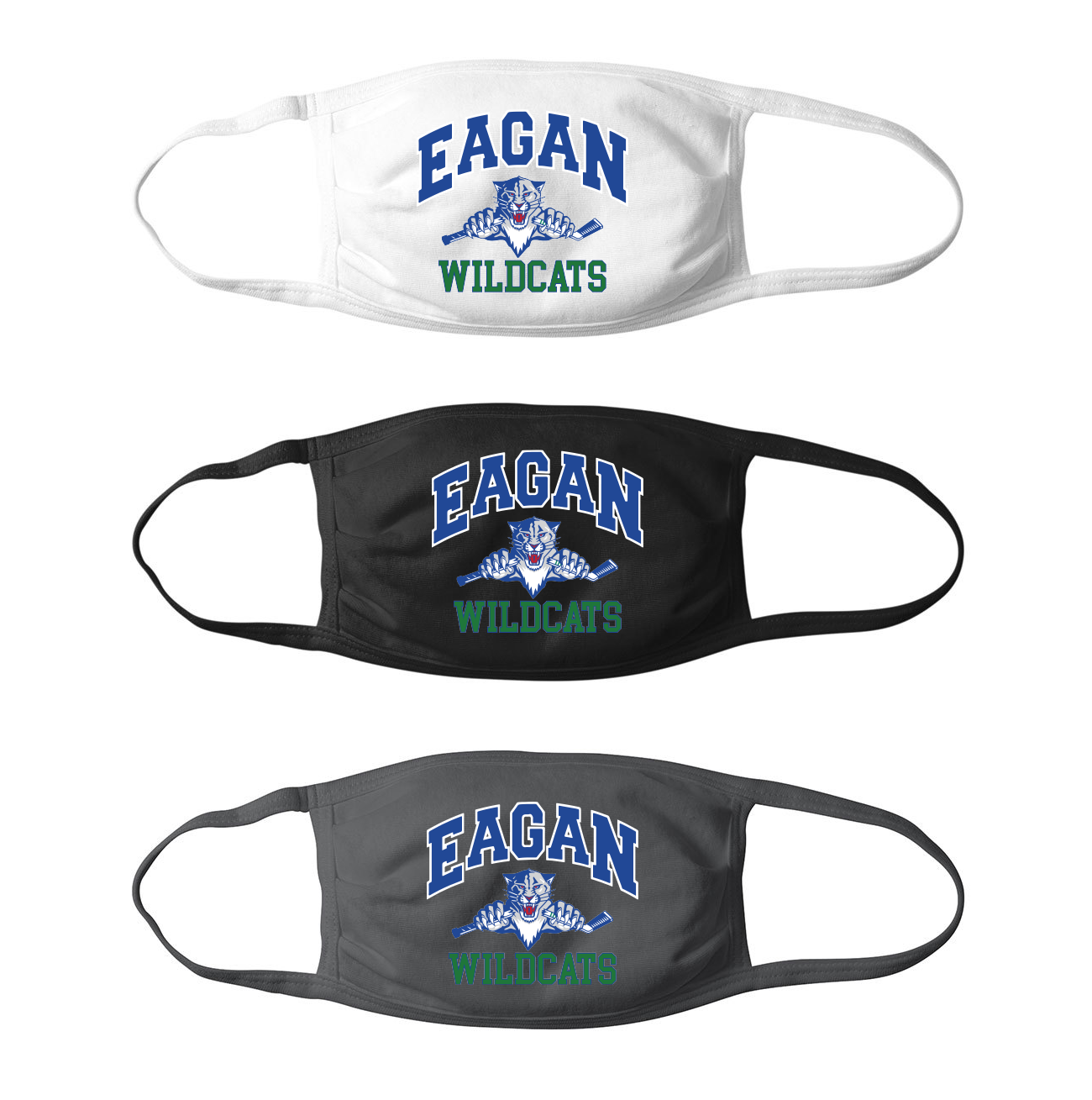 Eagan Wildcats Hockey Mask - Adult