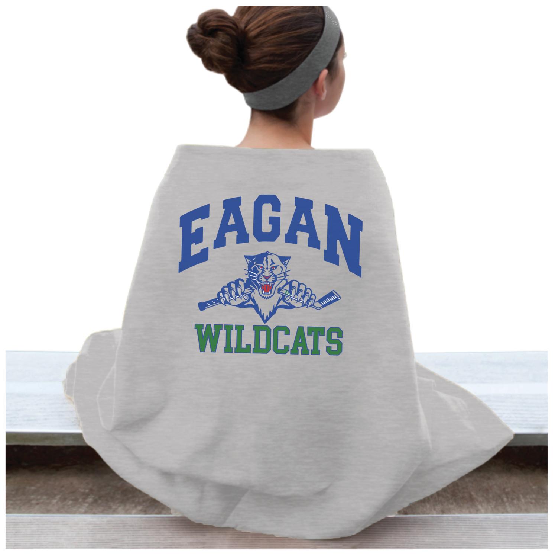 Eagan Wildcat Hockey Sweatshirt Blanket