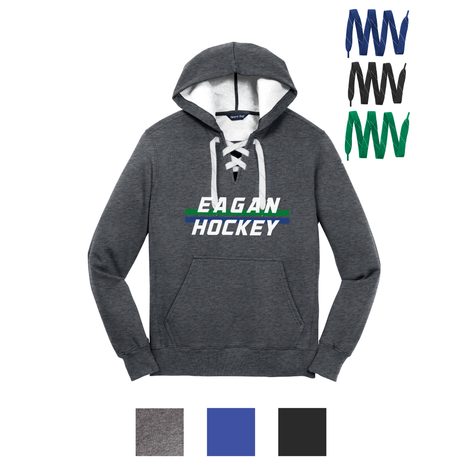 Eagan Hockey Lace Up Hoodie - 2020 Design