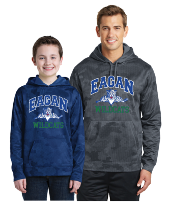 Eagan Hockey Sport-Wick® CamoHex Hooded Pullover