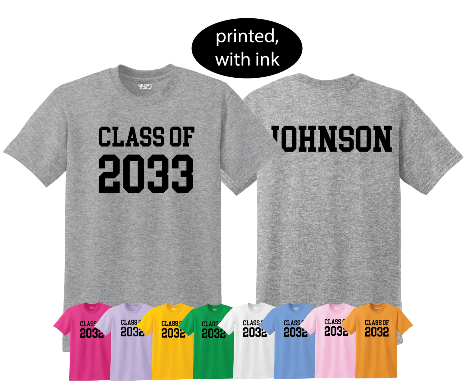 Personalized First Day of School Picture Shirt - Class of 2033 grow with me shirt - Customize Year and Name