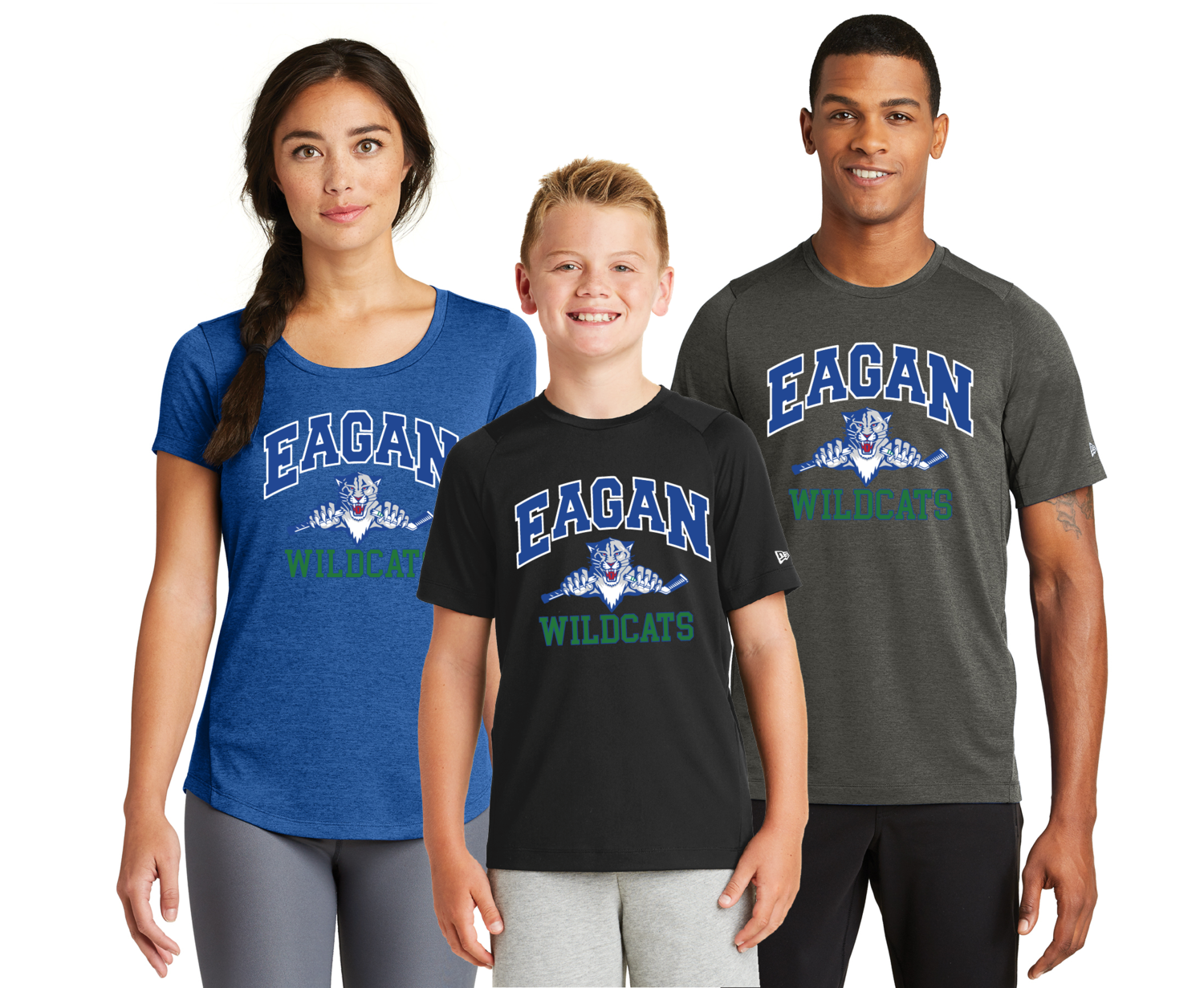 Eagan Hockey Performance Crew Tee - Adult and Youth