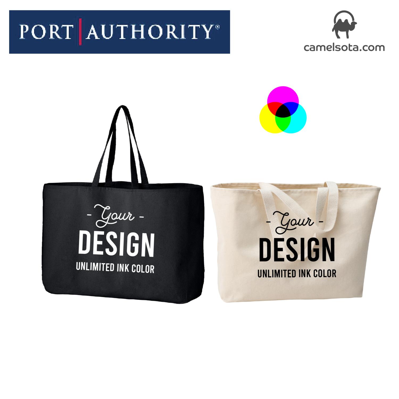 Custom Printed Port Authority Jumbo Tote Bag