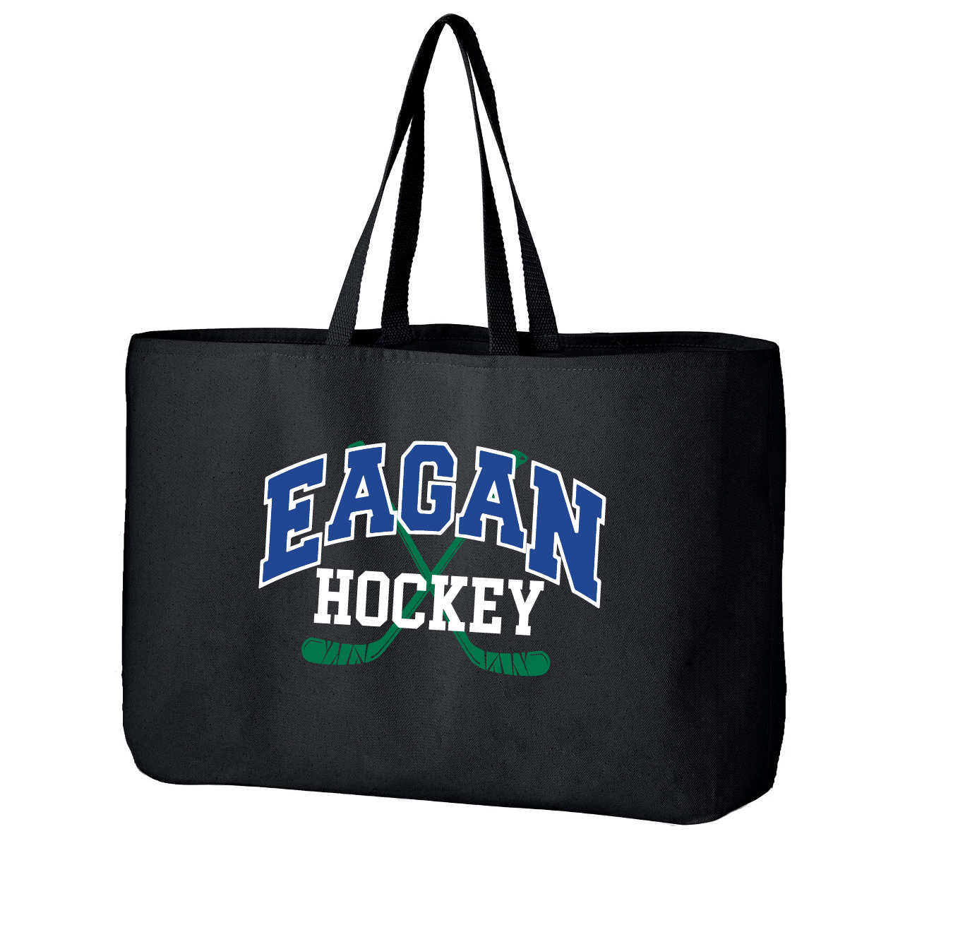 Eagan Hockey - Hockey Stick Design Jumbo Tote
