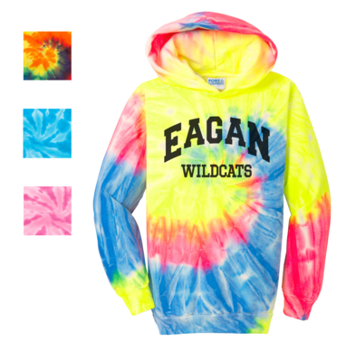 Eagan Wildcat Port & Company® Tie-Dye Pullover Hoodie